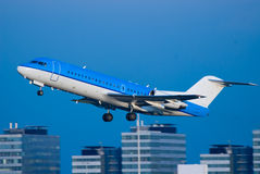 Plane take off. A plane take off at schiphol airport in amsterdam the netherlands Royalty Free Stock Photos