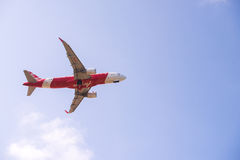 Plane take off under view Royalty Free Stock Images