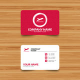 Plane takeoff icon. Airplane transport symbol. Royalty Free Stock Photos
