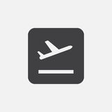 Plane takeoff` icon Vector illustration isolated on white . Plane takeoff` icon Vector illustration isolated on white Royalty Free Stock Photography