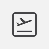 Plane takeoff` icon Vector illustration isolated on white.  Stock Images