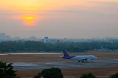 The plane takeoff Stock Image