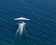 Plane takes off from the surface of the water Stock Image