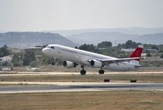 Plane taking off Royalty Free Stock Photography