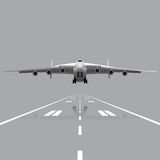 Plane taking off with a reflection Stock Photography
