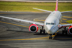 Plane taxiing Royalty Free Stock Photo