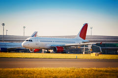 Plane taxiing Royalty Free Stock Image