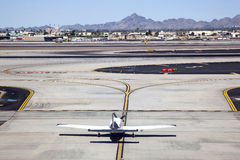 Plane on Taxiway Stock Images