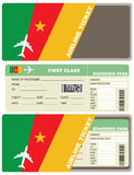 Plane ticket first class in Cameroon Royalty Free Stock Photo