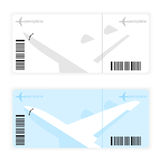A plane ticket. For tourists, white, vector format Royalty Free Stock Photo