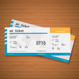 Plane tickets on the table. Vector Illustration. Air Ticket Stock Image