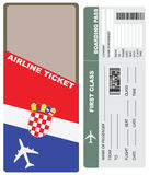 Plane tickets to first class Croatia Royalty Free Stock Images