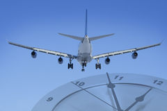 Plane on time Royalty Free Stock Image