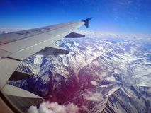 On the plane to Skardu, Pakistan. stock images