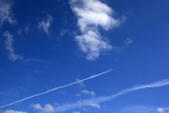 Plane Traces Royalty Free Stock Images