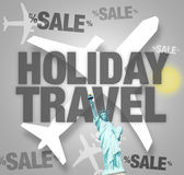 Plane Travel Holiday Statue of Liberty Stock Images