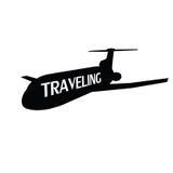 Plane traveling illustration Stock Photography