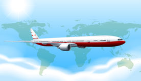 A plane travelling Royalty Free Stock Photography
