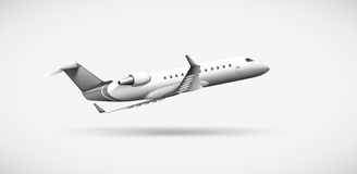 A plane travelling. Illustration of a plane travelling Stock Image