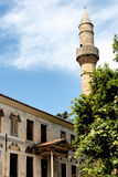 The Plane Tree of Hippocrates and the Gazzi Hassan mosque in Kos Stock Photos