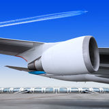 Plane turbine Stock Photography