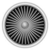 Plane turbine. Front view on white background vector illustration vector illustration