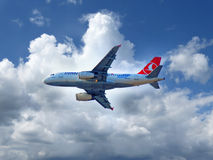 Plane of  Turkish Airlines Stock Image