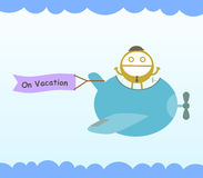 Plane on vacation Stock Images