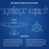 Plane vector blueprint Stock Photo
