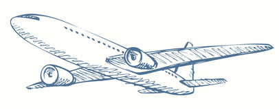 Plane. Vector drawing Stock Photography