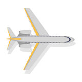 Plane Vector Icon on White Background. Transport Royalty Free Stock Photo