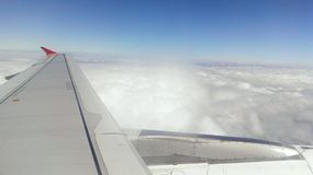 Plane view. Cloud cover at 30000 ft Stock Photos