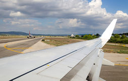 Plane view before the start Royalty Free Stock Photos