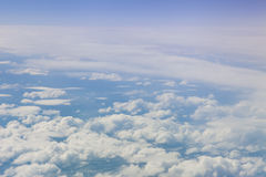 Plane view from the window. The view from the window of the plane isn`t similar to views from other windows royalty free stock photography