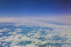 Plane view from the window. The view from the window of the plane isn`t similar to views from other windows royalty free stock images