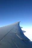 plane vingen royaltyfri fotografi