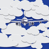 Plane on the Visibility was poor sky and has a lot of cloud Royalty Free Stock Images