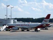 The plane at Vnukovo airport Stock Photos