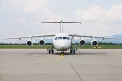 Plane waitng for passangers Stock Photos