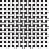 Plane Weave, Black and White Vector Seamless Pattern. Stock Photography