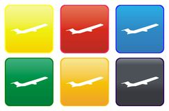 Plane web button Stock Photography
