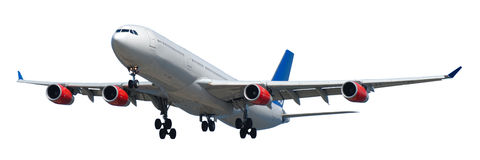 Plane on white background Royalty Free Stock Photo
