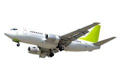 Plane on white background royalty free stock photos