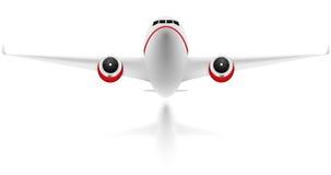 Plane on white background Stock Photo