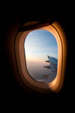 Plane window Royalty Free Stock Photo
