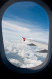 From the plane window. Royalty Free Stock Images