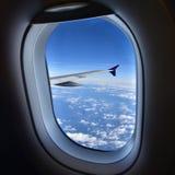 Plane window Royalty Free Stock Photo