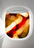 Plane window Royalty Free Stock Photography