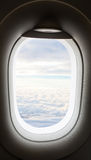 Plane window with cloud view Stock Photography