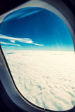 Plane window Royalty Free Stock Image